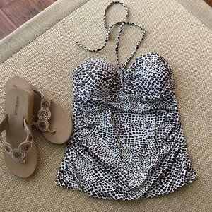 Merona Leopard Print Swimsuit Top Medium